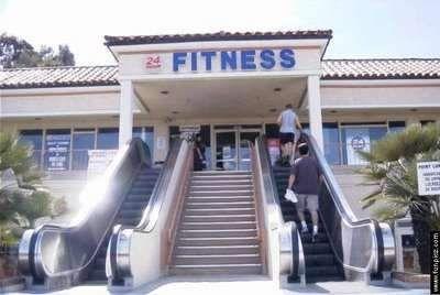 Fitniss gezond neem de trap niet de roltrap